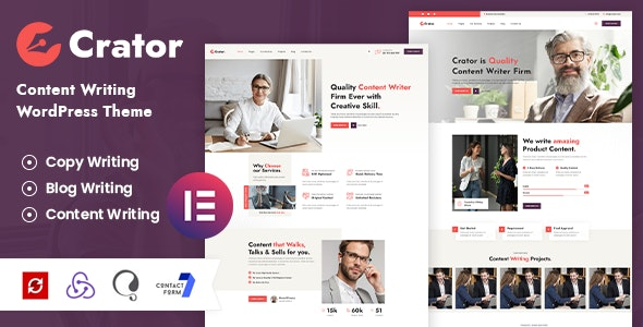 Crator - Content Writer WordPress Theme - Corporate WordPress