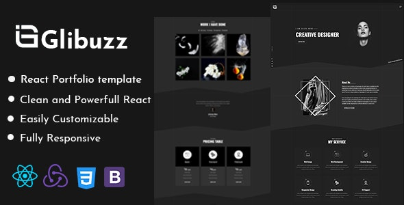 Glibuzz - Personal Portfolio React Template - Portfolio Creative