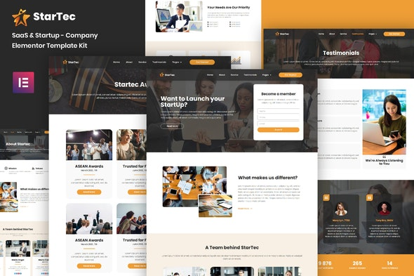 StarTec - Saas Elementor Template Kit - Business & Services Elementor