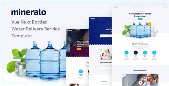 Mineralo - Vue Nuxt Bottled Water Delivery Service Template