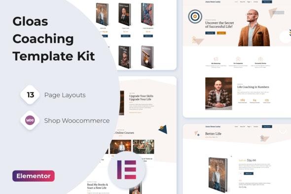 Gloas — Coach Speaker & Trainer Template Kit for Elementor - Shopping & eCommerce Elementor