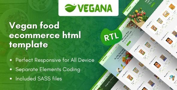 Vegana - Vegan Food eCommerce HTML Template - Food Retail