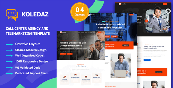 Koledaz - Call Center Services & Telemarketing Company Template - Business Corporate