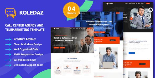 Koledaz - Call Center Services & Telemarketing Company Template