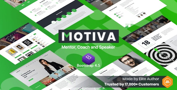 Motiva - Mentor, Coach and Speaker Website Template - Business Corporate