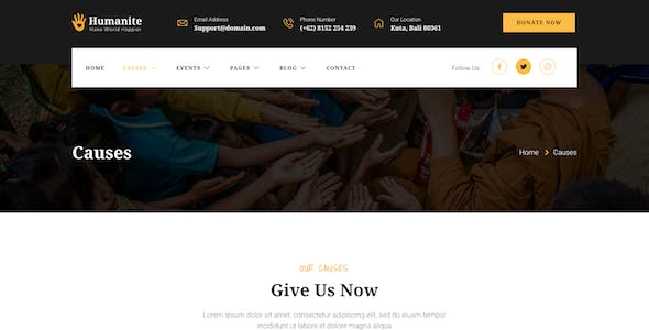 Humanite – Charity & Donation Elementor Template Kit