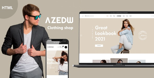 Azedw - Clothing Shop HTML Template | RTL Supported - Shopping Retail