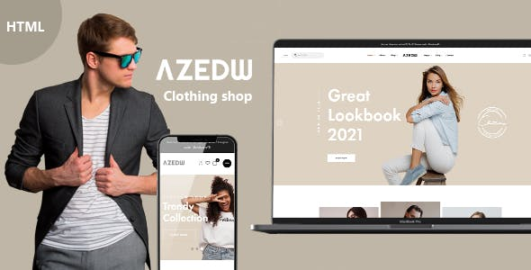 Azedw - Clothing Shop HTML Template | RTL Supported