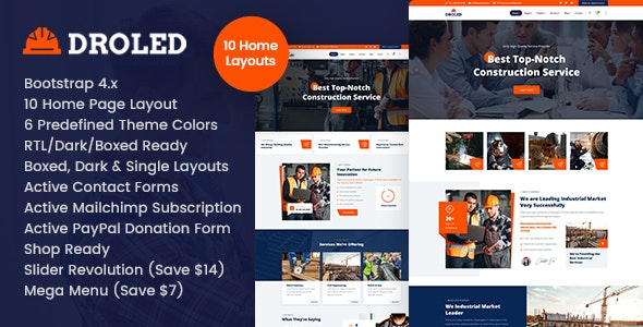 Droled - Factory Industrial HTML - Business Corporate