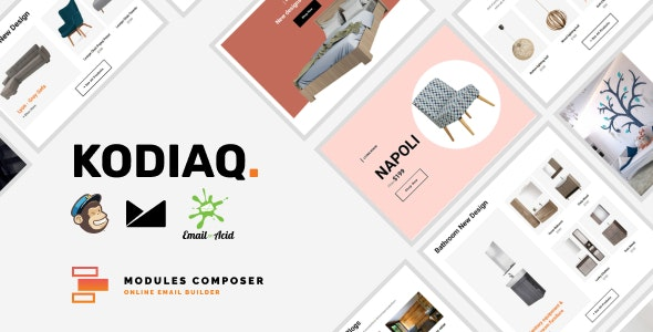 Kodiaq - E-commerce Responsive Email Template with MailChimp Editor, StampReady & Online Builder - Newsletters Email Templates