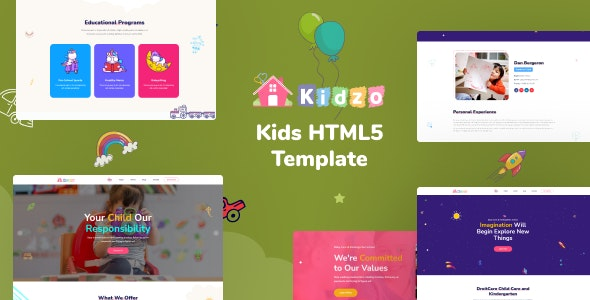 Kidzo - Kids & Children HTML Template - Children Retail