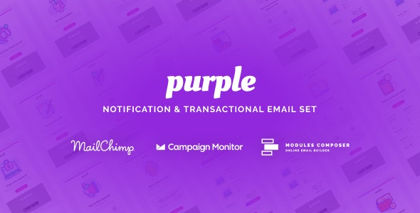 Purple - Notification & Transactional Email Templates - Newsletters Email Templates