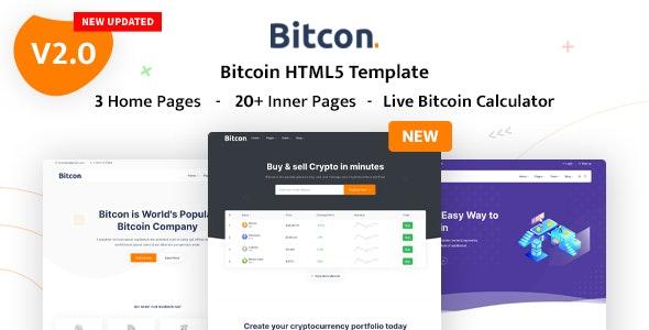 Bitcon - Bitcoin HTML5 Template - Technology Site Templates