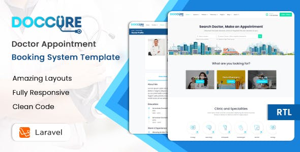 Doccure - Doctor Appointment Booking Management System Template (Practo Clone) (HTML + Laravel)