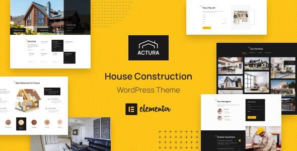 Actura - Construction WordPress theme - Business Corporate
