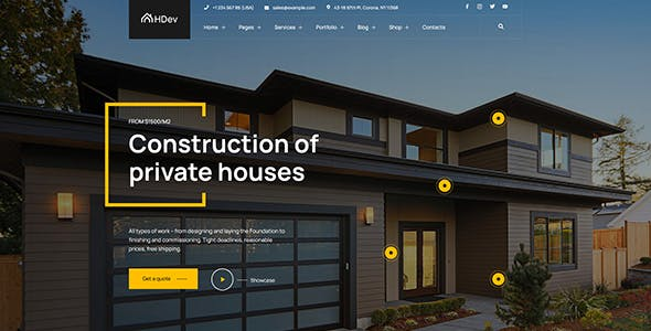Actura - Construction WordPress theme