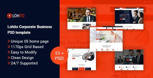 Lohito Corporate Business PSD Template - Corporate Figma