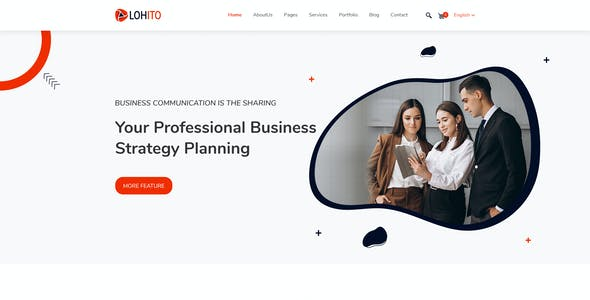 Lohito Corporate Business PSD Template