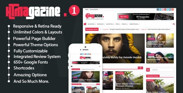 HTmagazine -  WordPress Newspaper Magazine Blog Theme - News / Editorial Blog / Magazine