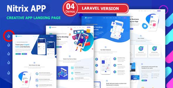 Nitrix - Laravel App Landing Page - Technology Site Templates