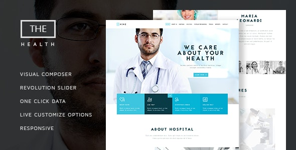 The Hospital - One and Multi Page Health Theme - Health & Beauty Retail