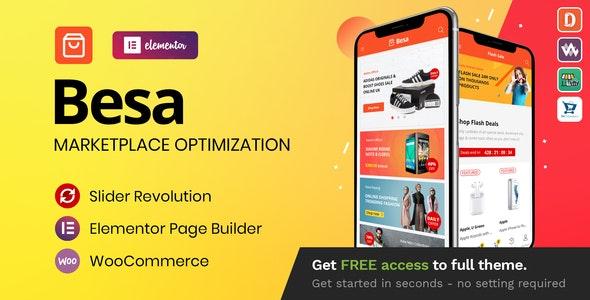 Besa - Elementor Marketplace WooCommerce Theme - WooCommerce eCommerce