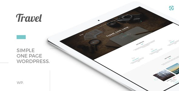 Travel - One Page Modern Tour Agency Theme