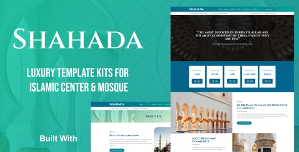 Shahada - Islamic Center Elementor Template Kit