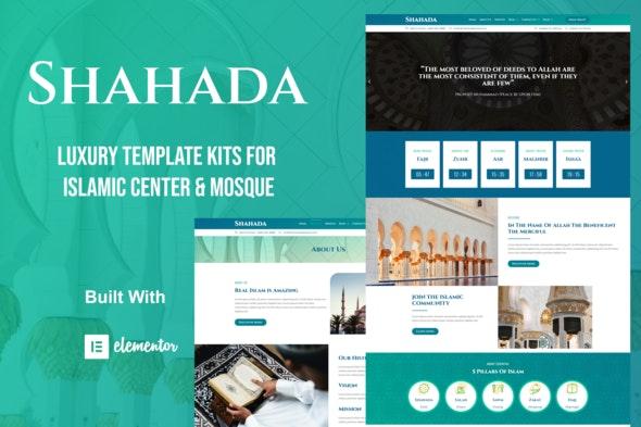 Shahada - Islamic Center Elementor Template Kit - Non-Profit & Religion Elementor