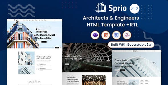 Sprio - Architects & Engineers HTML Template