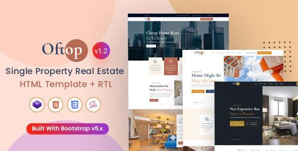 Oftop - Single Property HTML Template - Business Corporate