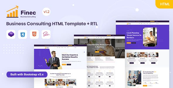 Finec - Business Consulting HTML Template