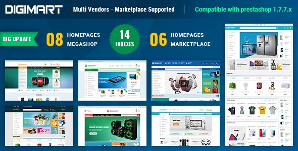 Digimart   Multi Vendors - Marketplace PrestaShop 1.7 Theme (  Compatible JA Marketplace ) - Shopping PrestaShop