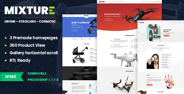 Mixture | Single Product Prestashop 1.7 Theme