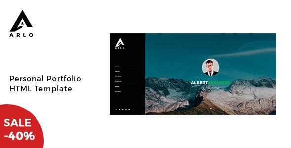 Arlo - Personal Portfolio Template - Virtual Business Card Personal