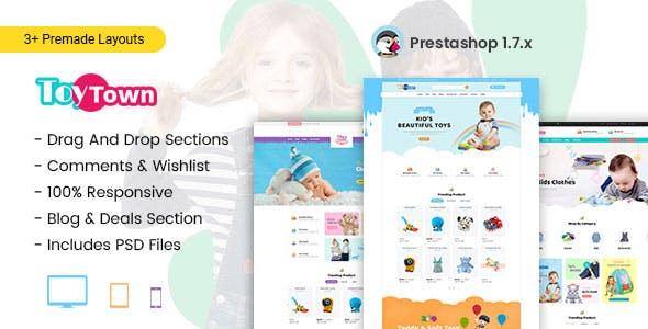 Toytown - Kids Clothing & Toys Prestashop Theme