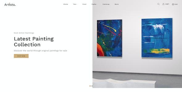 Artista - Artist & Painting Designers OpenCart Agency