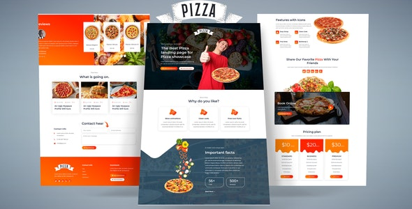 Pizza- HTML Landing Page - Food Retail