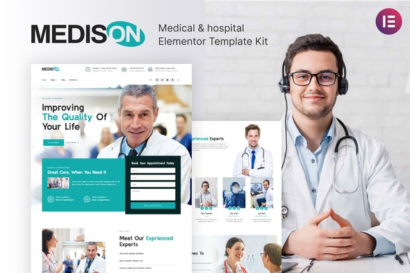 Medison - Hospital & Healthcare Clinic Elementor Template Kit - Health & Medical Elementor