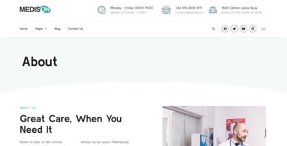Medison - Hospital & Healthcare Clinic Elementor Template Kit