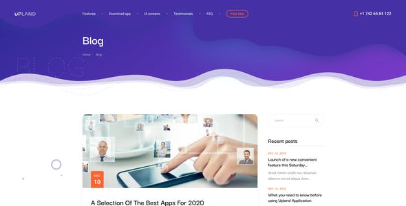Upland - Mobile App HTML Template