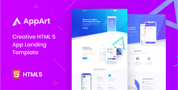 AppArt - Creative HTML Template For Apps - Technology Site Templates