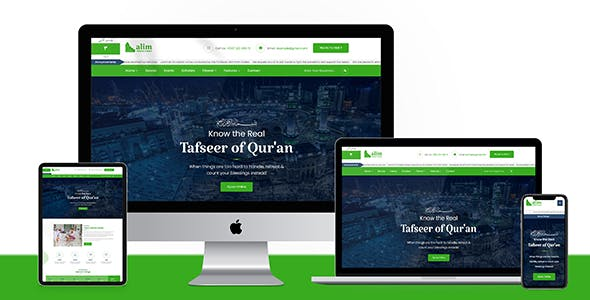 Alim - Islamic Institute & Mosque WordPress Theme + RTL