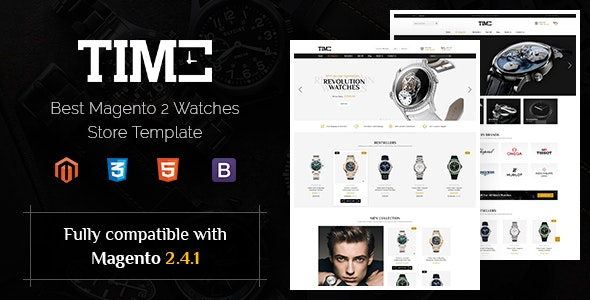 Time - Modern Magento 2 Watch Store Theme - Magento eCommerce