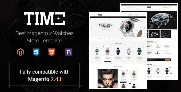 Time - Modern Magento 2 Watch Store Theme