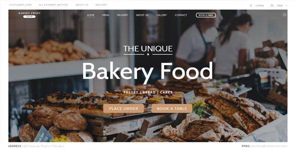 Cake Bakery - Pastry WP