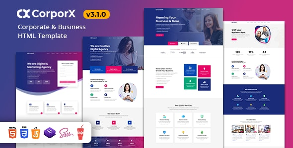 CorporX - Corporate and Business HTML Template - Corporate Site Templates
