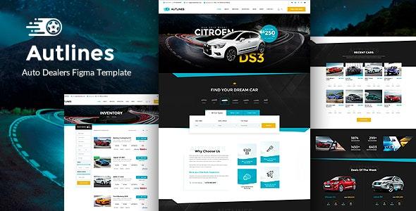 Autlines - Autodealer & Tuning Auto Figma - Business Corporate