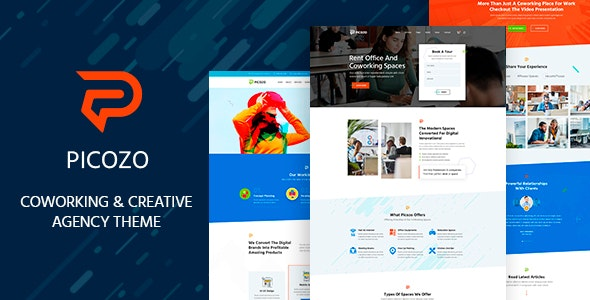 Picozo - Coworking and Office Space WordPress Theme - Business Corporate