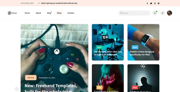 Flow - Figma Personal Blog Template